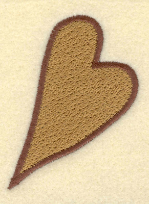 Embroidery Design: Heart 2.20w X 3.01h