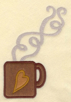 Embroidery Design: Mug Large with Double Applique4.84w X 7.01h