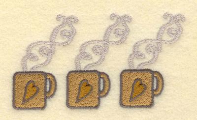 Embroidery Design: Three Small Mugs3.90w X 2.12h