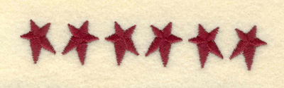 Embroidery Design: Small Stars Alternating3.79w X 0.70h