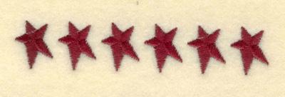 Embroidery Design: Small Stars Identical3.62w X 0.68h