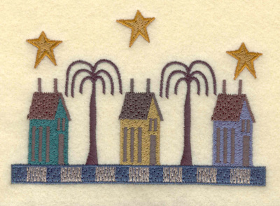 Embroidery Design: Homes on the Boulevard Large