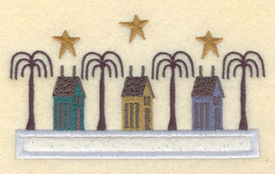 Embroidery Design: Homes on the Boulevard Applique5.18w X 2.93h