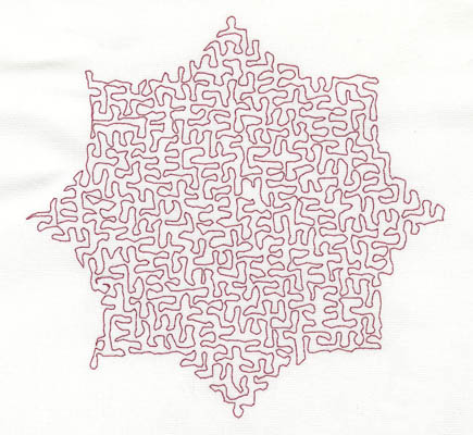 Embroidery Design: Stipple Eight Point Shape Medium5.13w X 4.98h