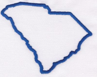 """Embroidery Design: South Carolina Outline2.85"""" x 3.60"""""""