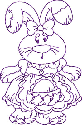 Embroidery Design: Easter Bunny 1 4.60w X 7.00h