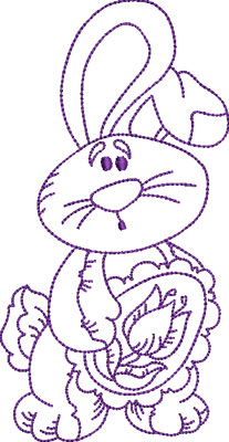 Embroidery Design: Easter Bunny 4 3.60w X 6.98h