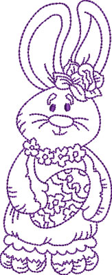 Embroidery Design: Easter Bunny 5 2.87w X 7.05h