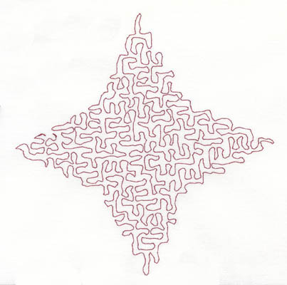 Embroidery Design: Stipple Four Point Star Low5.21w X 5.27h