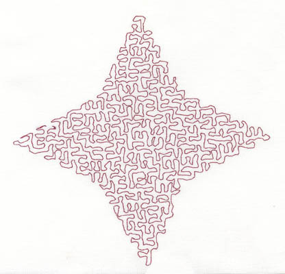 Embroidery Design: Stipple Four Point Star Medium5.29w X 5.15h