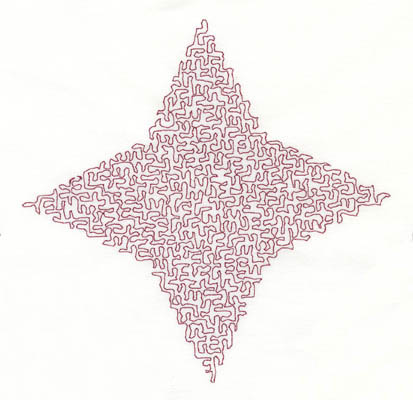 Embroidery Design: Stipple Four Point Star High5.34w X 5.28h