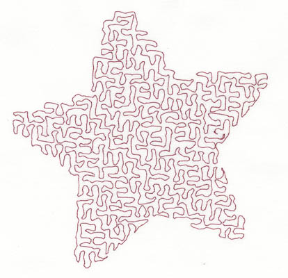 Embroidery Design: Stipple Five Point Star Low5.22w X 5.35h