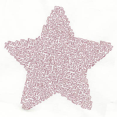 Embroidery Design: Stipple Five Point Star High5.29w X 5.41h
