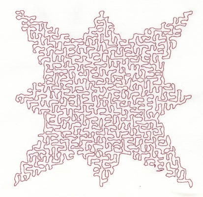 Embroidery Design: Stipple Star Medium5.01w X 5.00h