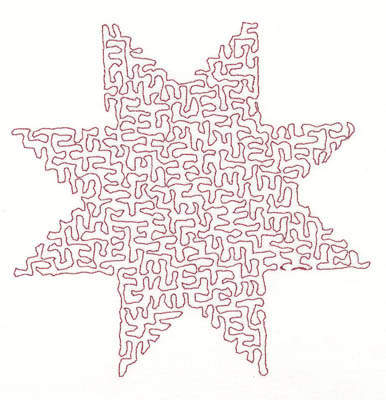 Embroidery Design: Stipple Star Medium4.83w X 4.83h