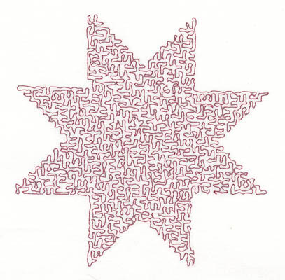 Embroidery Design: Stipple Star High4.82w X 4.85h