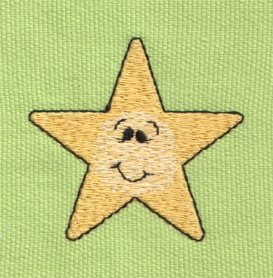 "Embroidery Design: Cute Little Star2.26"" x 2.11"""