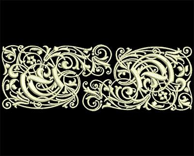 Embroidery Design: Fancy Elements 1 Design 1 6.90w X 2.41h