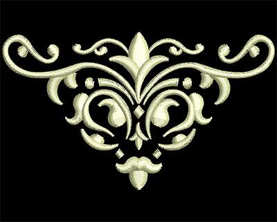 Embroidery Design: Fancy Elements 1 Design 4 3.11w X 1.79h