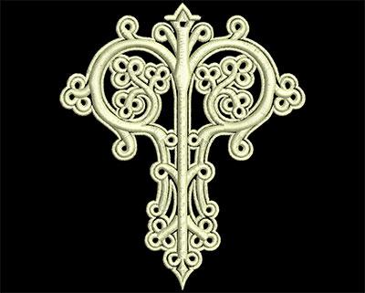 Embroidery Design: Fancy Elements 1 Design 7 4.06w X 4.73h