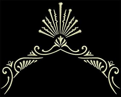 Embroidery Design: Fancy Elements 1 Design 9 5.32w X 4.11h