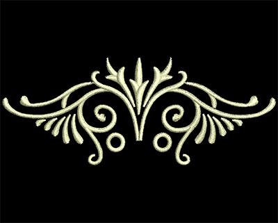 Embroidery Design: Fancy Elements 1 Design 21 3.71w X 1.46h