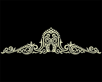 Embroidery Design: Fancy Elements 2 Design 3 7.27w X 1.96h