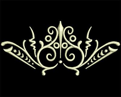 Embroidery Design: Fancy Elements 2 Design 4 3.85w X 1.76h