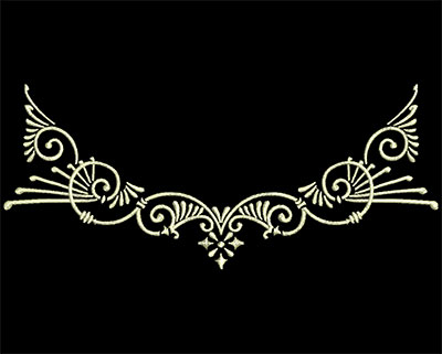 Embroidery Design: Fancy Elements 2 Design 5 6.91w X 2.94h
