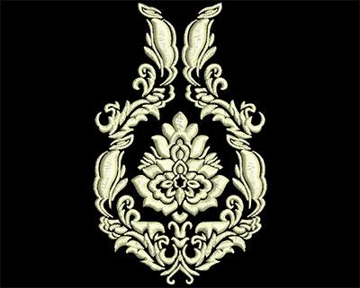 Embroidery Design: Fancy Elements 2 Design 9 2.65w X 4.33h
