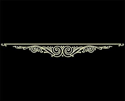 Embroidery Design: Fancy Elements 2 Design 11 6.97w X 0.76h
