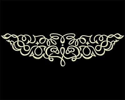 Embroidery Design: Fancy Elements 2 Design 15 6.63w X 1.80h