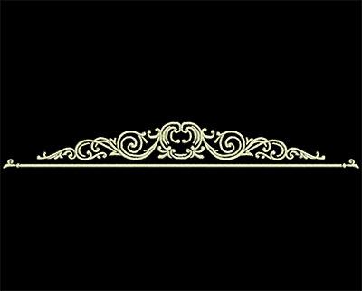 Embroidery Design: Fancy Elements 2 Design 16 5.98w X 0.77h