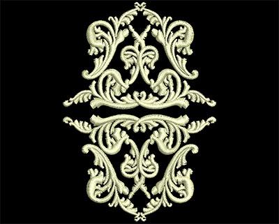 Embroidery Design: Fancy Elements 2 Design 19 2.36w X 3.39h