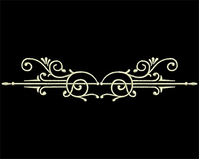 Embroidery Design: Fancy Elements 2 Design 20 6.79w X 1.53h