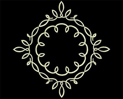Embroidery Design: Fancy Elements 2 Design 22 4.52w X 4.74h