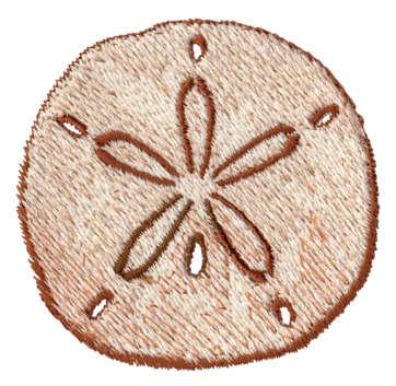 "Embroidery Design: Sand Dollar2.46"" x 2.40"""