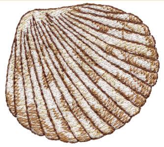 "Embroidery Design: Seashell 72.65"" x 2.39"""