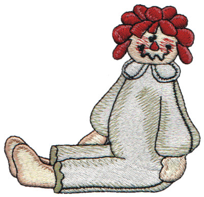"Embroidery Design: Annie in her Pyjamas3.53"" x 3.42"""