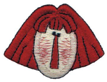"""Embroidery Design: Crafty Annie Head2.33"""" x 1.72"""""""