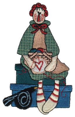 "Embroidery Design: Crafty Annie Sewing2.81"" x 4.47"""