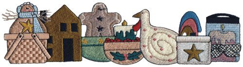 """Embroidery Design: Crafty Annie's Collection9.53"""" x 2.57"""""""