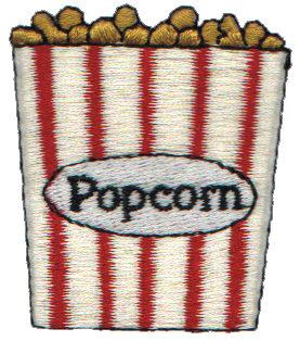 "Embroidery Design: Popcorn1.81"" x 2.02"""