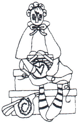 "Embroidery Design: Crafty Annie Sewing - Outline2.19"" x 3.50"""