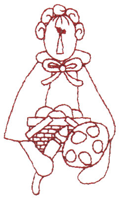 "Embroidery Design: Artisan Annie - Outline1.75"" x 2.99"""