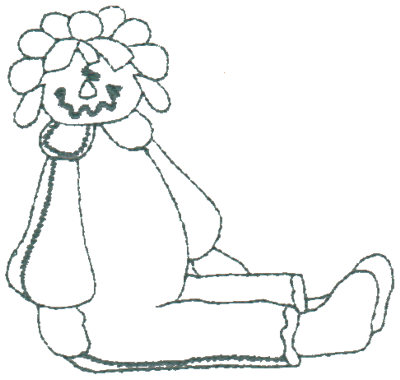 "Embroidery Design: Annie In Pyjamas - Outline3.16"" x 3.07"""