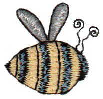 """Embroidery Design: Bumble Bee1.28"""" x 1.20"""""""