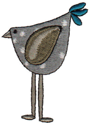 """Embroidery Design: Spotted Chicken2.15"""" x 2.97"""""""