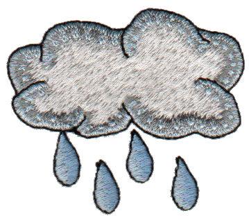 "Embroidery Design: Rain Cloud2.27"" x 2.03"""
