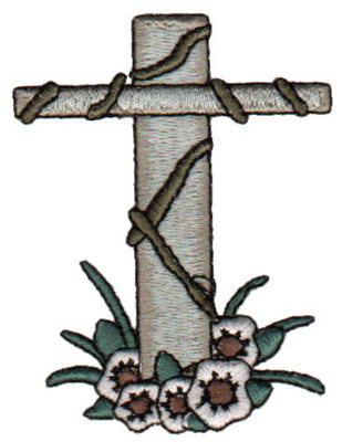 "Embroidery Design: Cross2.26"" x 3.00"""